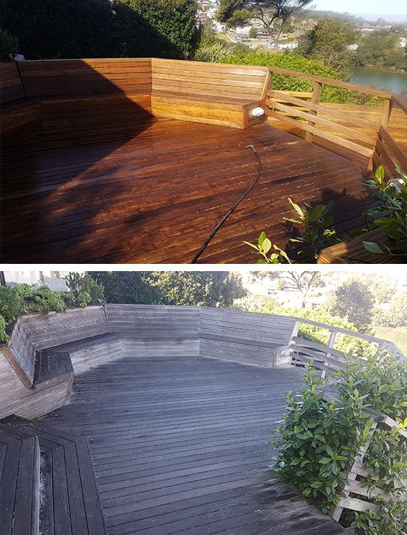 Deck Cleaning Before & After
