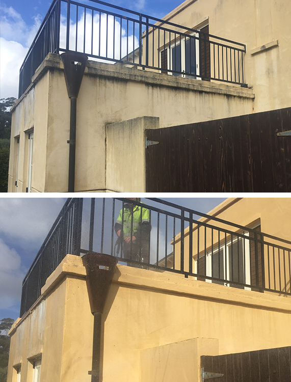 Exterior House Washing Before & After