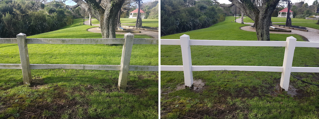 Fence Cleaning Before & After in North Shore